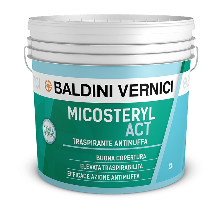 micosteryl act pittura traspirante antimuffa baldini